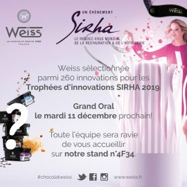 Weiss nominée au Sirha innovation 2019